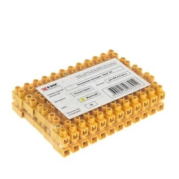 Колодка клеммная  (4мм.) 3А полистирол желтая (10шт.) EKF PROxima