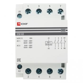 Контактор модульный КМ 63А 3NО+NC (3 мод.) EKF PROxima