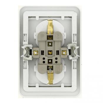 Лондон Розетка 2-местная с заземлением 16А белая с защ. штор. EKF PROxima