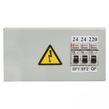 Ящик с понижающим трансформатором ЯТП 0,25кВА 220/24В (3 автомата) EKF Basic