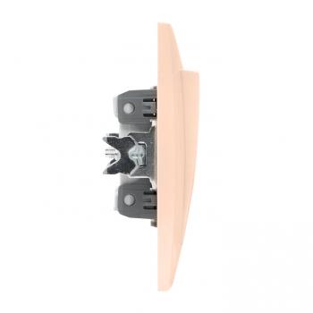 Валенсия выключатель 2-кл. 10А кремовый проходной EKF PROxima