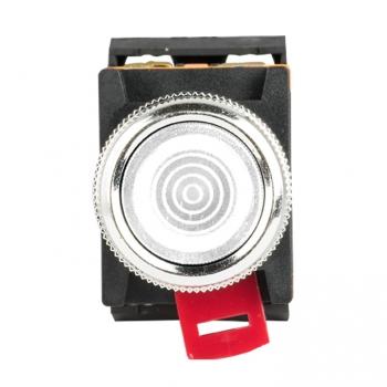 Кнопка ABLFS-22 с подсветкой белый NO+NC 230В EKF PROxima
