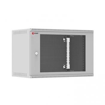 Шкаф телекоммуникационный настенный 6U (600х350) дверь стекло, Astra E серия EKF PROxima