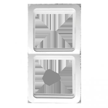 Лондон Рамка 2-местная вертикальная белая EKF PROxima