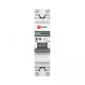 Автоматический выключатель 1P 10А (B) 4,5kA ВА 47-63 EKF PROxima