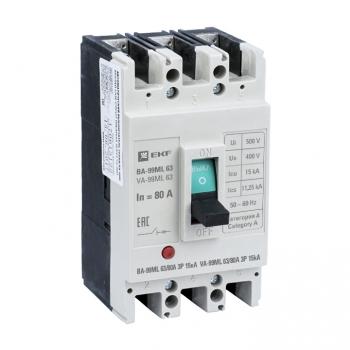 Автоматический выключатель ВА-99МL   63/80А 3P 15кА EKF Basic