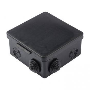 Коробка распаячная КМР-030-014 с крышкой  (100х100х50), 8 мембр. вводов чёрная IP54 EKF