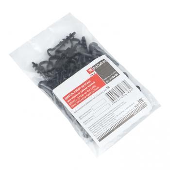 Дюбель-хомут (5х10 мм) для плоского кабеля черный (100 шт.) EKF PROxima