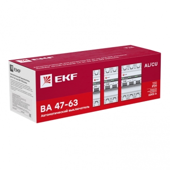 Автоматический выключатель 3P 16А (B) 6кА ВА 47-63 EKF PROxima