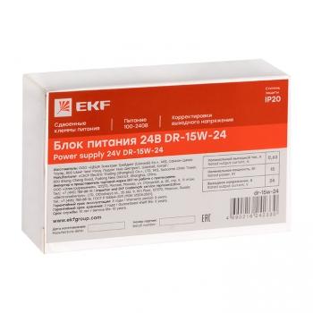 Блок питания 24В DR-15W-24 EKF PROxima