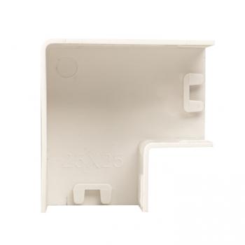 Поворот 90 гр. (25х25) (4 шт) Plast EKF PROxima Белый