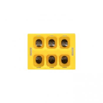 Клемма СМК 2273-246 (с пастой) 6 отверстий 0,5-2.5мм2 (4шт.) EKF PROxima