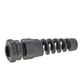 Сальник  PG7 IP54 черн. гибкий отвод d отверстия 11мм d проводника 3-6,5мм EKF PROxima