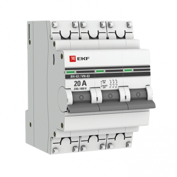 Выключатель нагрузки 3P 20А ВН-63 EKF PROxima
