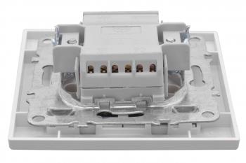 Минск Выключатель 2-клавишный СП с индикатором,10А, белый EKF Basic