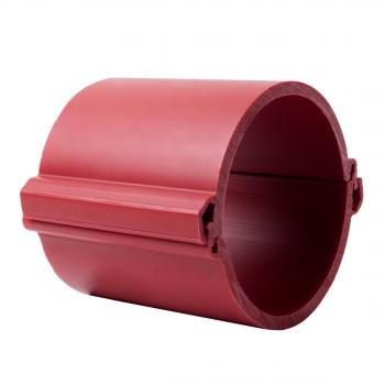 Труба гладкая разборная ПНД 160 мм (750Н), красная EKF PROxima