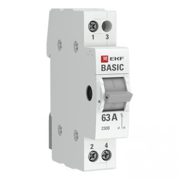 Трехпозиционный переключатель 1P 63А EKF Basic