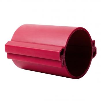 Труба гладкая разборная ПНД 110 мм (450Н), красная EKF PROxima