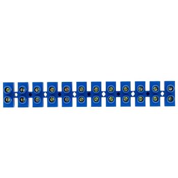 Колодка клеммная  (4мм.) 3А полистирол синяя (10шт.) EKF PROxima