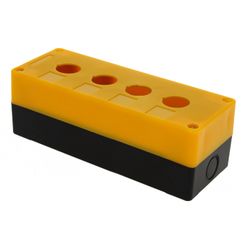Корпус КП104 пластиковый 4 кнопки желтый EKF PROxima