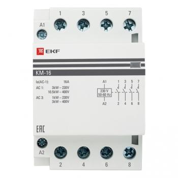 Контактор модульный КМ 16А 4NО (3 мод.) EKF PROxima