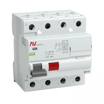 Устройство защитного отключения DV 4P  40А/100мА (AC) EKF AVERES