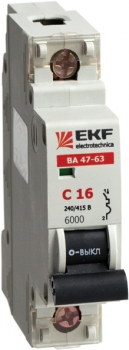 Автоматический выключатель ВА 47-63 6кА, 1P 50А (C) EKF