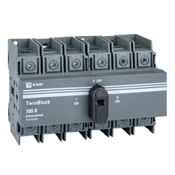 Рубильник   100A 3P реверсивный c рукояткой для прямой установки TwinBlock EKF
