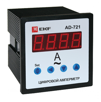 Амперметр AD-721 цифровой на панель (72х72) однофазный EKF  PROxima