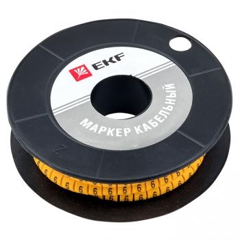 "Маркер кабельный 4,0 мм2 ""6"" (500 шт.) (ЕС-2) EKF PROxima"