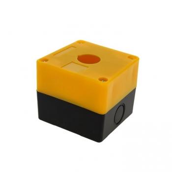 Корпус КП101 пластиковый 1 кнопка желтый EKF PROxima