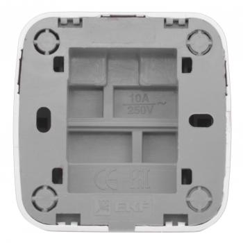 Минск Выключатель 1-клавишный ОП 10А белый  EKF Basic