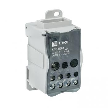 Блок распределительный КБР на DIN-рейку и монтажную панель 500A EKF PROxima