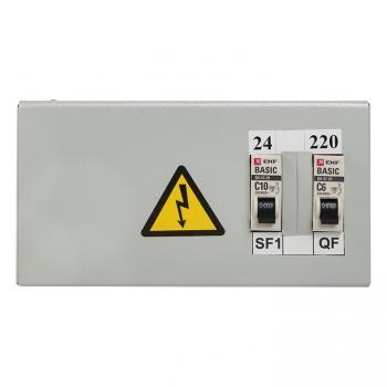 Ящик с понижающим трансформатором ЯТП 0,25кВА 220/24В EKF Basic