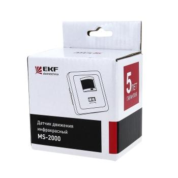 ИК датчик движения встраив. с датчиком звука 500Вт 160гр. до 9м IP20 MS-2000 EKF PROxima