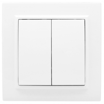 Выключатель 2-кл. СП проходной 10А белый Минск EKF Basic