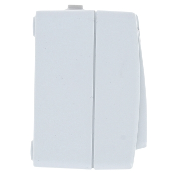 Блок розетка-выкл. 1-кл. 16А с/зс крышкой IP54 бел. с защ. штор. Венеция EKF PROxima