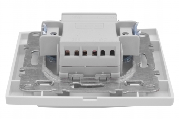 Минск Выключатель 1-клавишный СП,10А, белый EKF Basic