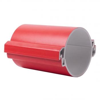 Труба гладкая разборная ПВХ 110 мм (750Н), красная EKF PROxima