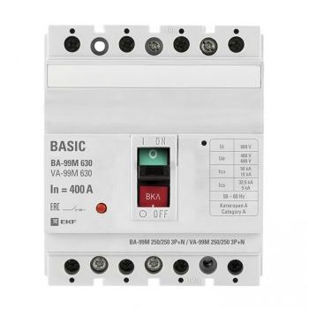 Выключатель автоматический ВА-99М  630/400А 3P+N 50кА EKF PROxima