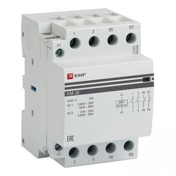 Контактор модульный КМ 20А 2NО+2NC (3 мод.) EKF PROxima