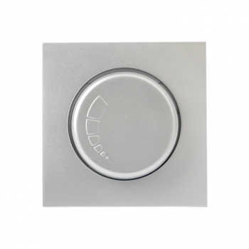 Валенсия лицевая панель светорегулятора 600W 220В сталь EKF PROxima