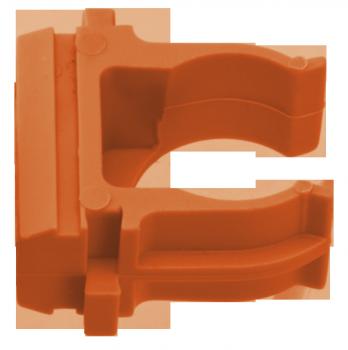 Крепеж-клипса оранжевая d20мм  (10шт.) Plast EKF PROxima