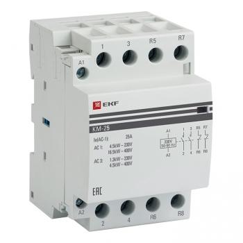 Контактор модульный КМ 25А 2NО+2NC (3 мод.) EKF PROxima