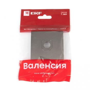 Валенсия лицевая панель розетки TV 1-местная 75Ом 5-862МГц графит EKF PROxima