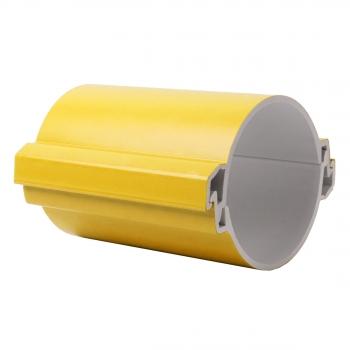Труба гладкая разборная ПВХ 110 мм (750Н), желтая EKF PROxima