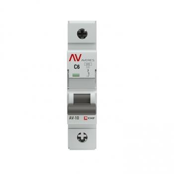 Выключатель автоматический AV-10 1P  6A (C) 10kA EKF AVERES