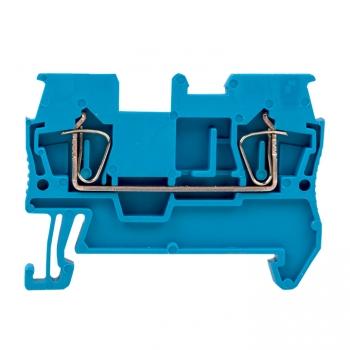 Колодка клеммная пружинная JXB-ST-2.5 31А синяя EKF PROxima
