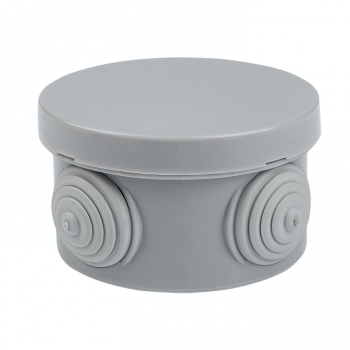 Коробка распаячная КМР-040-039 с крышкой наружная (85х40) 4 мембранных ввода IP54 розничный стикер EKF PROxima