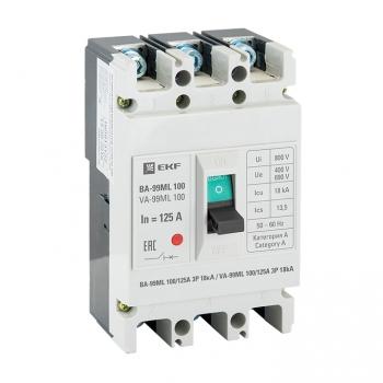 Автоматический выключатель ВА-99МL 100/125А 3P 18кА EKF Basic